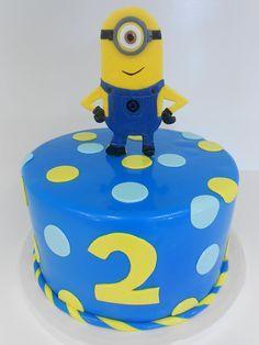 Minions Birthday Cake,it's perfect! My Birthday Cake, Minion Birthday, Minion Party, Birthday Ideas, Torta Minion, Bolo Minion, Cake Minion, Pretty Cakes, Cute Cakes