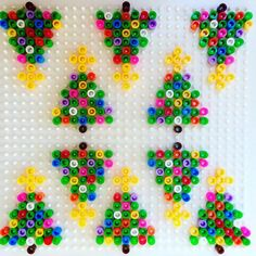 Christmas tree ornaments hama beads by alaannuschka