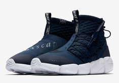 The Nike Air Footscape Mid Utility Obsidian and Cargo Khaki are two new colorways as part of Nike's Spring 2018 lineup that will be releasing in March. Sneakers For Sale, Girls Sneakers, Sneakers Fashion, High Top Sneakers, Blue Sneakers, Leather Sneakers, Tenis Basketball, Balenciaga, Nike Shoes