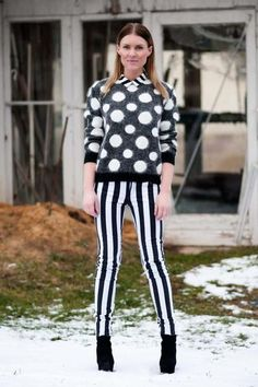 Loving the mix of patterns, stripes on spots Mixed | Women's Look | ASOS Fashion Finder