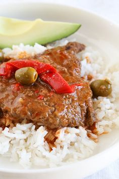 Braised Cubed Steak with Peppers, Onions and Olives is a flavorful, cheap, family-friendly dish you can make in the Instant Pot, Slow Cooker or stove-top. Crock Pot Recipes, Beef Cube Steak Recipes, Beef Cubed Steak, Beef Recipes, Real Food Recipes, Cooking Recipes, Healthy Recipes, Beef Meals, Slow Cooking