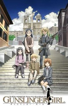 Gunslinger Girl. One of the best anime/manga ever! A touching and exciting story.