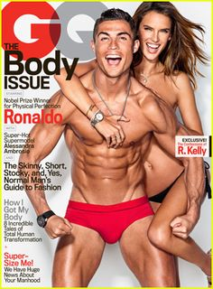 Cristiano Ronaldo & Alessandra Ambrosio Show Off Their Ripped Bodies on the Cover of GQ