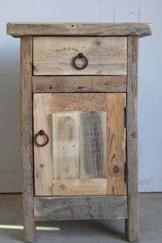 Rustic Nightstand, Handmade, Natural, Pine, Reclaimed Wood, Southwestern, Old Fashioned, Antique Style