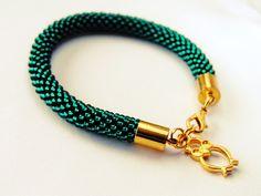 """SHINE.  """"GREEN OCEAN"""" Bead  bracelet. by SHINEmagicJewellery on Etsy"""
