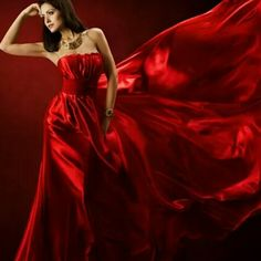 Red Gowns, Satin Dresses, Glamour Photo Shoot, Red Images, Simply Red, Glamorous Dresses, Shades Of Red, Lady In Red, Ball Gowns