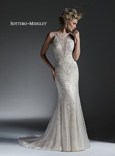 Sottero and Midgley Maui [Sottero and Midgley Maui] - Buy a Maggie Sottero Wedding Dress from Bridal Closet in Draper, Utah Formal Dresses For Weddings, Designer Wedding Dresses, White Weddings, Vintage Weddings, Vintage Bridal, Elegant Dresses, Sottero And Midgley Wedding Dresses, Sottero Midgley, Bridal Gowns