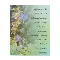 Serenity Prayer Companulas Plaque