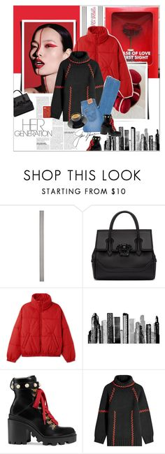 """""""Untitled #305"""" by fashionaviour ❤ liked on Polyvore featuring Improvements, Versace, RoomMates Decor, Gucci, Alexander McQueen and Levi's"""