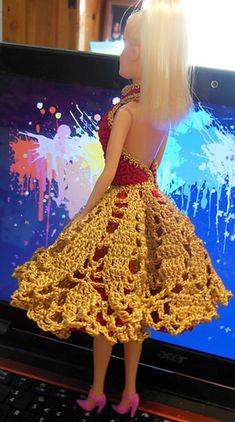 Barbie Doily Cocktail Dress pattern by Dez Alyxander