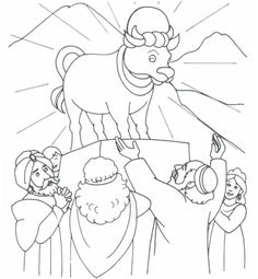 Baby Moses Coloring Pages New the Golden Calf Exodus 32 Sunday School Projects, Sunday School Activities, Sunday School Lessons, Preschool Bible, Bible Activities, Bible Lessons For Kids, Bible For Kids, Bible Crafts, Bible Art