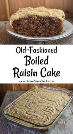 Old-Fashioned Boiled Raisin Cake with Brown Sugar Frosting is a spice cake featuring raisins cooked in brown sugar. Spice Cake Recipes, Sheet Cake Recipes, Sheet Cakes, Crazy Cake Recipes, Frosting Recipes, Cookbook Recipes, Baking Recipes, Boiled Raisin Cake Recipe, Boiled Fruit Cake