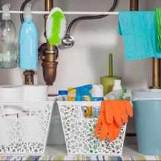 Easy under the sink storage idea