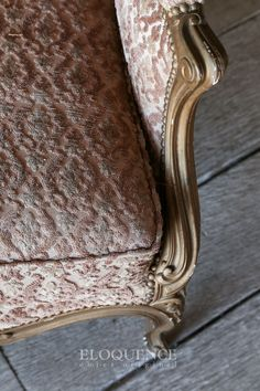Gorgeous antique Louis XV confessional bergere in a gilt finish. This piece is finished in a textured cream and burgundy velveteen. The form of this chair is stunning with excellent proportions and a gentle curving shoulder. Pink Chairs, Burgundy And Gold, Provence, Pine, Cottage, Cream, Antiques, Shoulder, Decor
