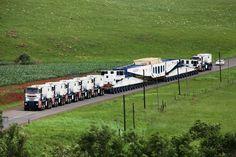 5 pulling, 1 pushing a 30 axle trailer... #HeavyHaul #Loadboard #ReferATruck