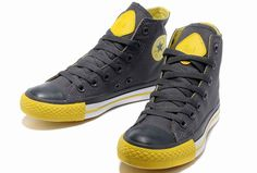 2013 Newest Dazzle Colour 3 Converse All Star Chuck Taylor High Tops Charcoal Gray Yellow Women&Mens Casual Canvas Sneakers [M13071906] - $58.00 : Discount Converse All Star Sneakers Sale,Converse All Star Sandals,Comics and Womens Platform Sneakers