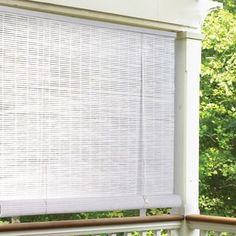 White Indoor/Outdoor Rollup Shade   Overstock.com Shopping - The Best Deals on Outdoor Window Treatments