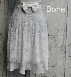 How to lengthen a dress with a chiffon underlay. I LOVE her website!