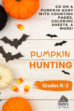 Want to celebrate Halloween in a Covid-friendly way? Pumpkin Hunting is here! These printable sheets include: Page to count pumpkins Drawing sheet for their favorite pumpkin 2 coloring pages Halloween Word Search Halloween Matching Game Halloween Word Scramble A maze Scavenger hunt Link to Halloween Glow Stick Cards #halloween #covid #pumpkins #pumpkinhunting #printables #HistoryatHome #kindergarten #firstgrade #secondgrade #thirdgrade #wordsearch #activities Fun Classroom Activities, Halloween Activities, Holiday Activities, Activities For Kids, Halloween Word Search, Halloween Words, Halloween Fun, First Grade Lessons, Teaching Kindergarten