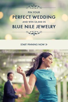 "Entering is easy: FOLLOW Blue Nile on Pinterest - CREATE a board titled, ""My Perfect Wedding"" - REPIN at least three images from Blue Nile's Pinterest boards - REPIN at least three images from Style Me Pretty's Pinterest boards - SEND the link to your ""My Perfect Wedding"" board to entries@bluenile.com. Click the pin for more details!"