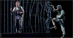 Bengal Tiger at the Baghdad Zoo, with Robin Williams, near right, and Glenn Davis, in the drama by Rajiv Joseph at the Richard Rodgers Theater. Theatre Plays, Theatre Stage, Contemporary Theatre, New York Theater, Richard Rodgers, David Zinn, The Giant Peach, Robin Williams