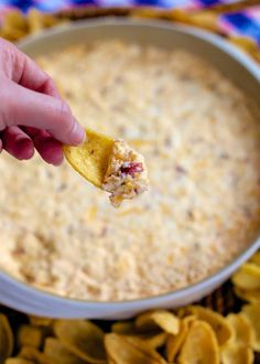 Warm Crack Dip - cheddar, bacon and ranch dip - this stuff is SO addicting! This is always the first thing to go at a party! I could make a meal out of it!