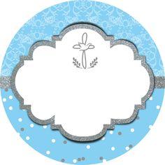 Etiqueta de Bautizo para niño Baptism Boy Favors, Baptism Invitation For Boys, Boy Baptism, Baby Shower Invitation Templates, Baptism Invitations, Printable Invitations, Christening, Invitation Cards, First Communion Decorations