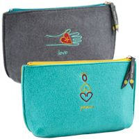 OWL Recycled Felt :: Zip-Top Pouch -  Featured on the TODAY SHOW!  #eco