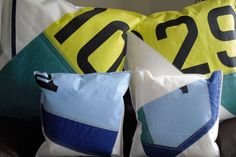 Wightsails Sailcloth Recycled Cushions