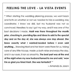 fabulous vancouver wedding Grooms rarely see the value in hiring a wedding planner... perhaps this Testimonial Tuesday will change some minds... Thank you to my fun bride & groom @mrsjdole316 & Jason your wedding was so much fun! I appreciate your kind words xoxo #LaVistaEvents #LaVistaLove #jasonandamanda2015 by @lavistaevents  #vancouverwedding #vancouverwedding