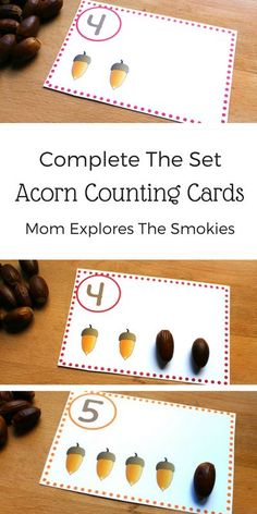 This printable kids' learning activity can be used to teach counting, set building and beginning addition concepts.