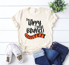 I'm so happy I could bounce Shirt, Tigger Shirt, Disney Shirt – Carolina Magnolia Designs Disney World Outfits, Disney World Shirts, Cute Disney Outfits, Disneyland Shirts, Disneyland Outfits, Cute Outfits, Disney Clothes, Disney Fashion, Cute Disney Shirts