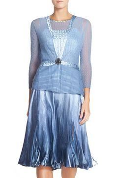 cfbfb18fce Komarov Charmeuse A-Line Dress   Embellished Jacket (Regular   Petite)  Jacket Dress