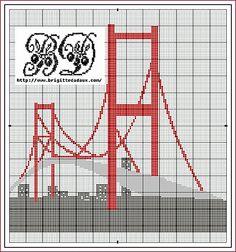 Golden Gate free cross stitch chart