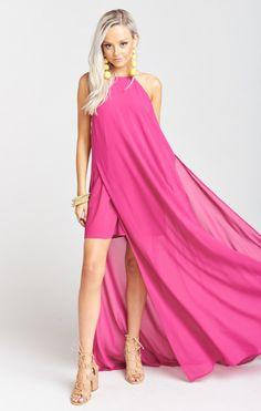 7ad220fb0ae Show Me Your Mumu Bronte Maxi Dress ~ Fuchsia Pop Chiffon