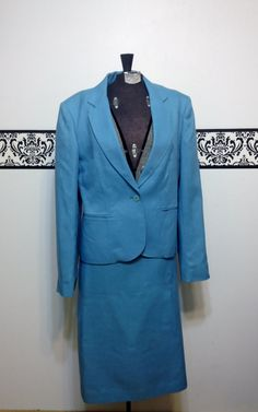 1960's Cool Blue Women's Suit Set  Vintage by RetrosaurusRex