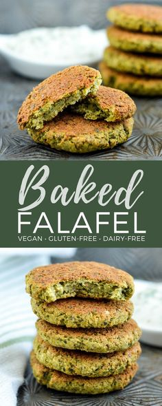 Healthy Gluten-free Vegan Baked Falafel! The perfect quick & easy meatless dinner recipe! They're gluten-free, dairy-free, vegan & freezer-friendly! #falafel #baked #healthy #recipe #vegan #glutenfree #dairyfree #freezerfriendly #meatless #maindish  via @joyfoodsunshine