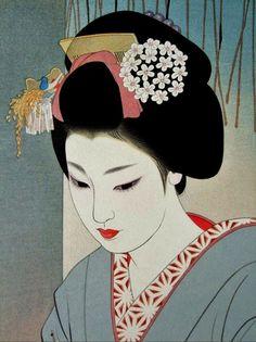 女は花である — brandnewboxofmatches: Vintage Japan Shimura...