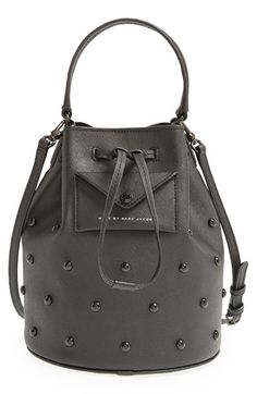 MARC+BY+MARC+JACOBS+'Metropoli'+Studded+Leather+Bucket+Bag+available+at+#Nordstrom