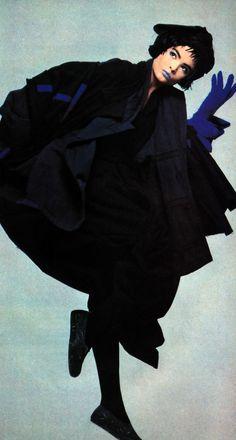 Steven Meisel for American Vogue, June 1983. Coat by Comme des Garcons.