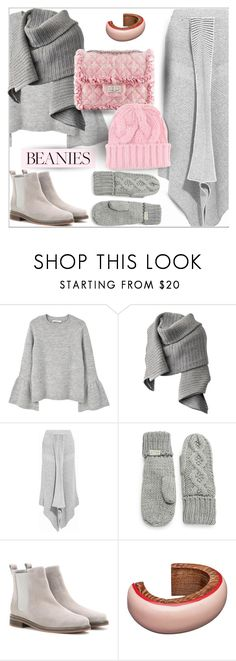"""Stay beautiful and warm on a bad hair day in pink, gray, wool & cashmere s"" by nataschic ❤ liked on Polyvore featuring MANGO, Acne Studios, STELLA McCARTNEY, Chanel, Rella, Loro Piana, Marni, Ganni, beanies and polyvoreeditorial"