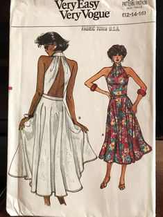 Excited to share this item from my shop: Vintage Vogue Very Easy Dress Pattern 9541 from 1986 Vogue Dress Patterns, Vintage Vogue Patterns, Clothing Patterns, Sewing Patterns, Boho Fashion, Vintage Fashion, Fashion Design, Simple Dress Pattern, Bodice Pattern