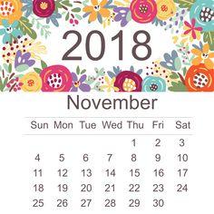 67 best november 2018 calendar images on pinterest in 2018 2018