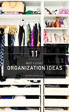 It's never too late to get organized—check out some inspiring, orderly closets that'll have you cleaning yours immediately. // #Tips