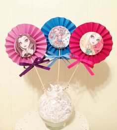 3 Ever After High-inspired Party Centerpieces (1 set)