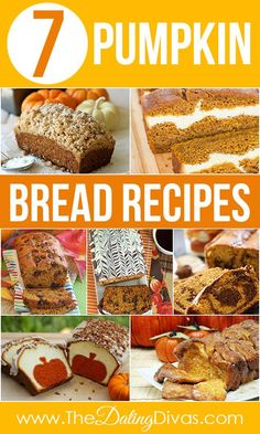 The Ultimate Pumpkin Recipe Round-Up- soooo many yummy pumpkin bread recipes. Best Pumpkin Bread Recipe, Pumpkin Recipes, Fall Recipes, Holiday Recipes, Holiday Foods, All You Need Is, Thanksgiving Desserts, Fall Desserts, Cooking Recipes