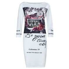 Casual multi-color printing short-sleeved round neck tight women's mini dress