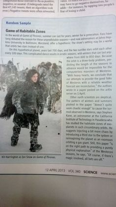 Science tries to explain the seasons in Game of Thrones. I've been wondering about this myself.