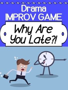 This is a really fun game that we play for our SPONTANEOUS portion of improv.it's quick, doesn't require a lot of set-up, and students love it (so do I!)This Powerpoint goes through each step of the game to make it easier for you and your Theatre Games, Teaching Theatre, Teaching Kids, Drama Teacher, Drama Class, Drama Drama, Middle School Drama, Drama For Kids, Drama Education