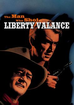 The Man Who Shot Liberty Valance, 1962. One of the must-see Westerns. Senator Ransom Stoddard (James Stewart) returns to his dusty hometown for the funeral of small-time outlaw Tom Doniphon (John Wayne.) In flashbacks, Stoddard tells the story of how, with Doniphon's help, he rose to political prominence after killing a feared gunslinger.